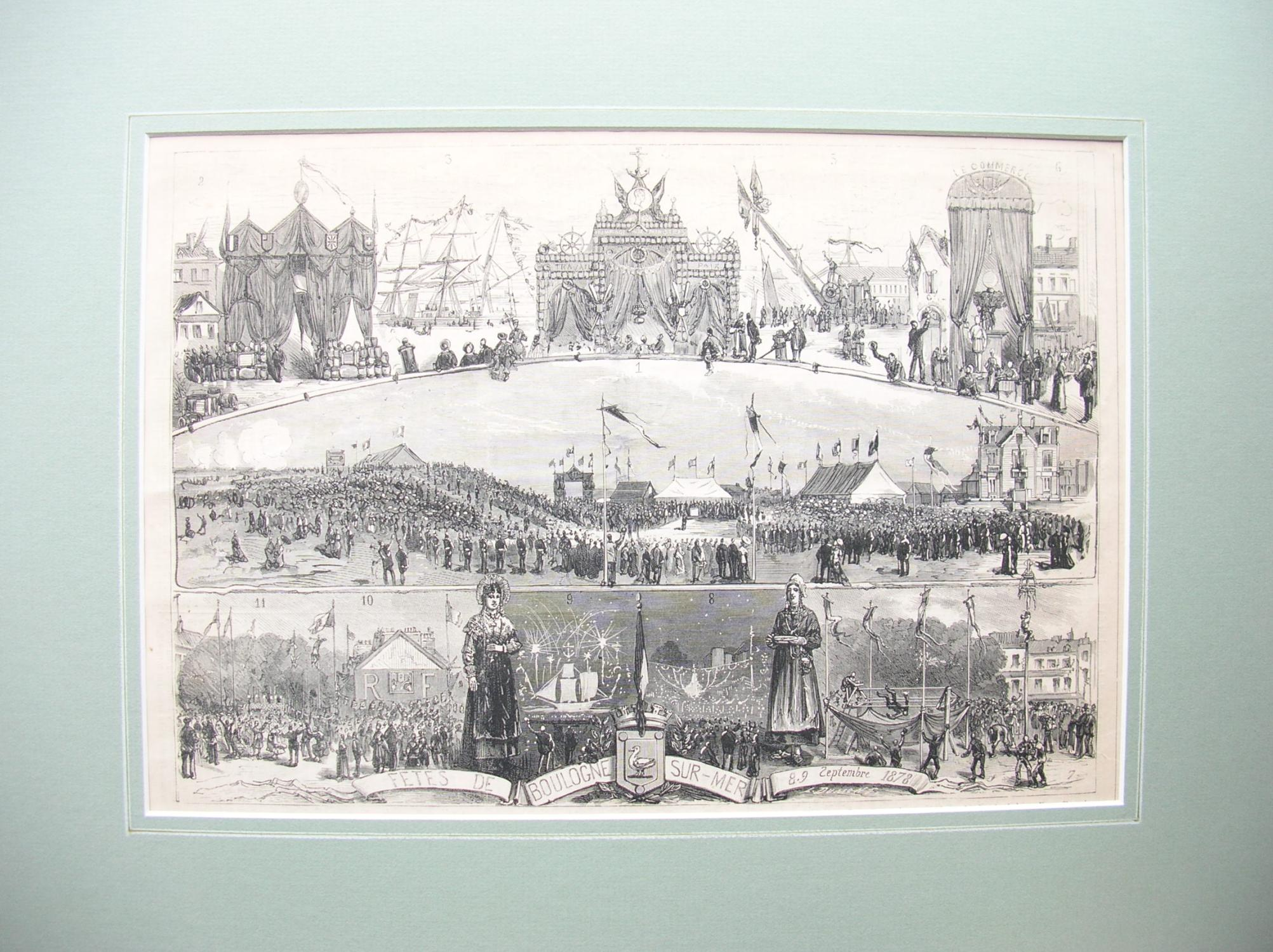Fetes de Boulogne-sur-Mer, 8./9. Septembre 1878.: France, Frankreich)