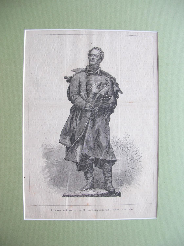 La Statue de Lamartine, par M. Falguiére,: France, Frankreich)
