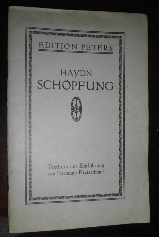 Die Schöpfung: Oratorium von Joseph Haydn, Textbuch: Joseph Haydn