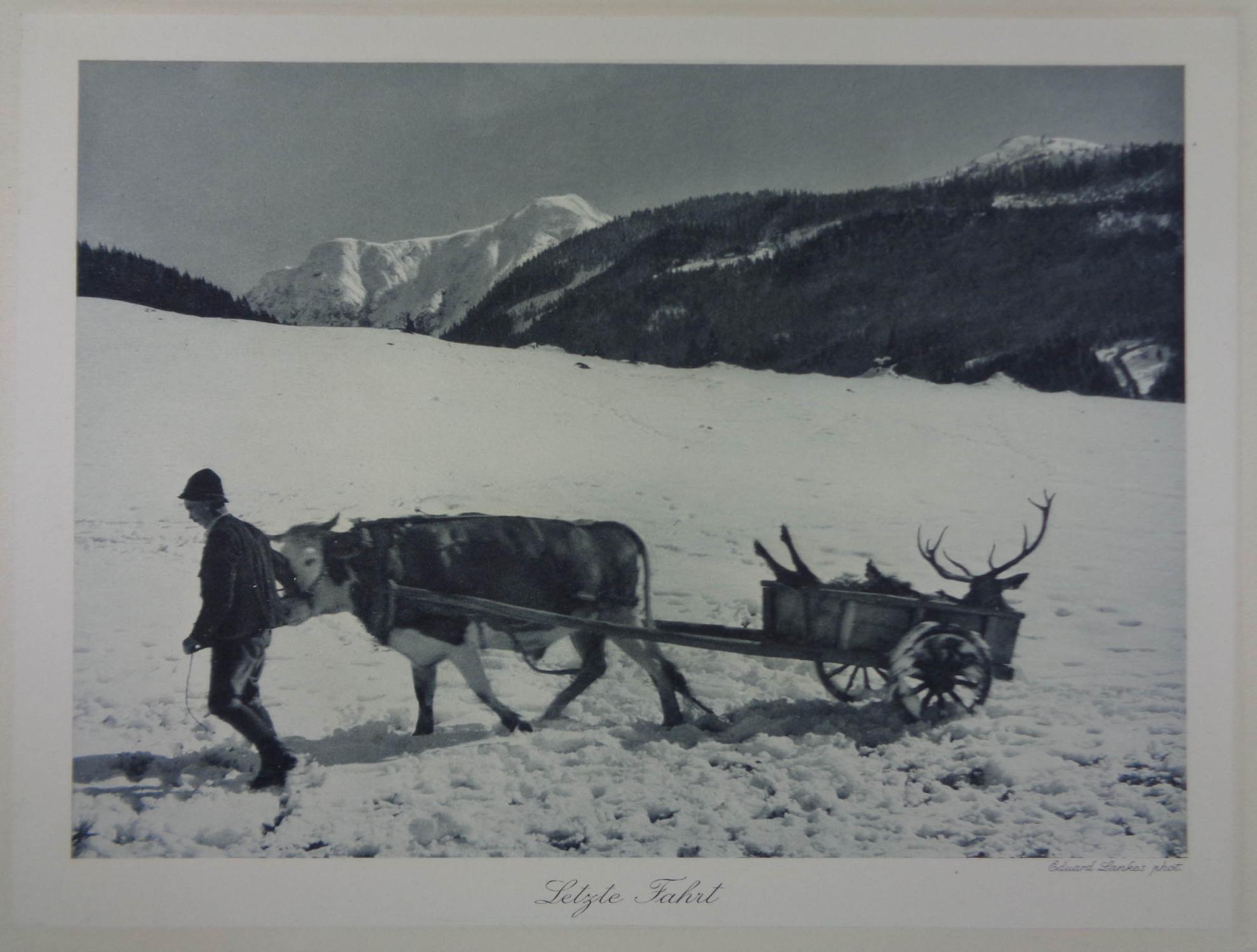 Letzte Fahrt. Photogravure, rechts unten bez. Eduard: Lankes Eduard (1874-?)