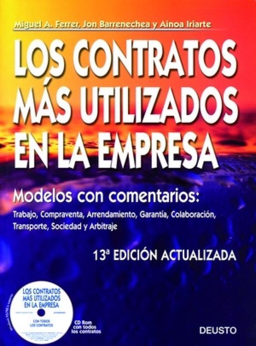 Los contratos ms utilizados en la empresa 13ª edicion actualizada - Vv.Aa.