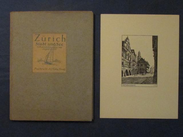 Zürich. Stadt und See. 48 Federzeichnungen von: Aeppli, August