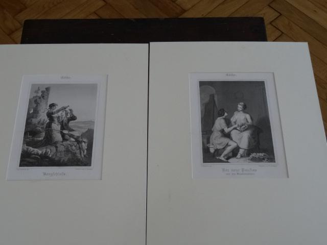 1,Bergschloß. 2,Der neue Paußias.: Goethe:
