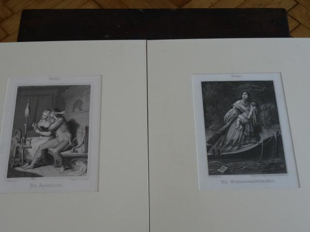 1,Die Spinnerin. 2,Die Wahlverwandschaften.: Goethe: