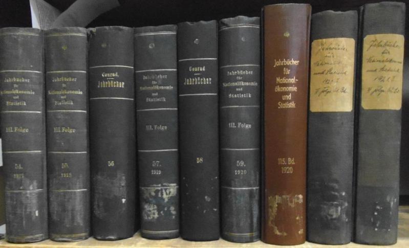 Jahrbücher für Nationalökonomie und Statistik. III. Folge,: Hildebrand, Bruno (Gründer)