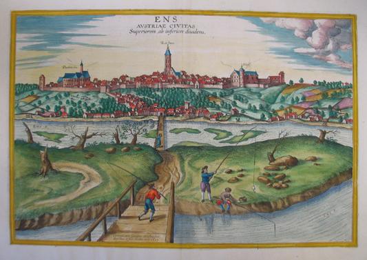 Ens. Austriae civitas superiorem ab inferiore diuidens.: Enns