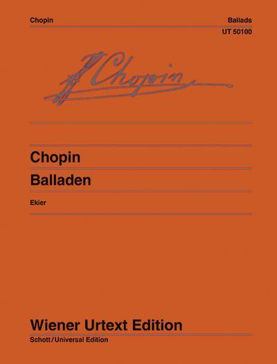 Balladen, Klavier : Urtext - Frédéric Chopin
