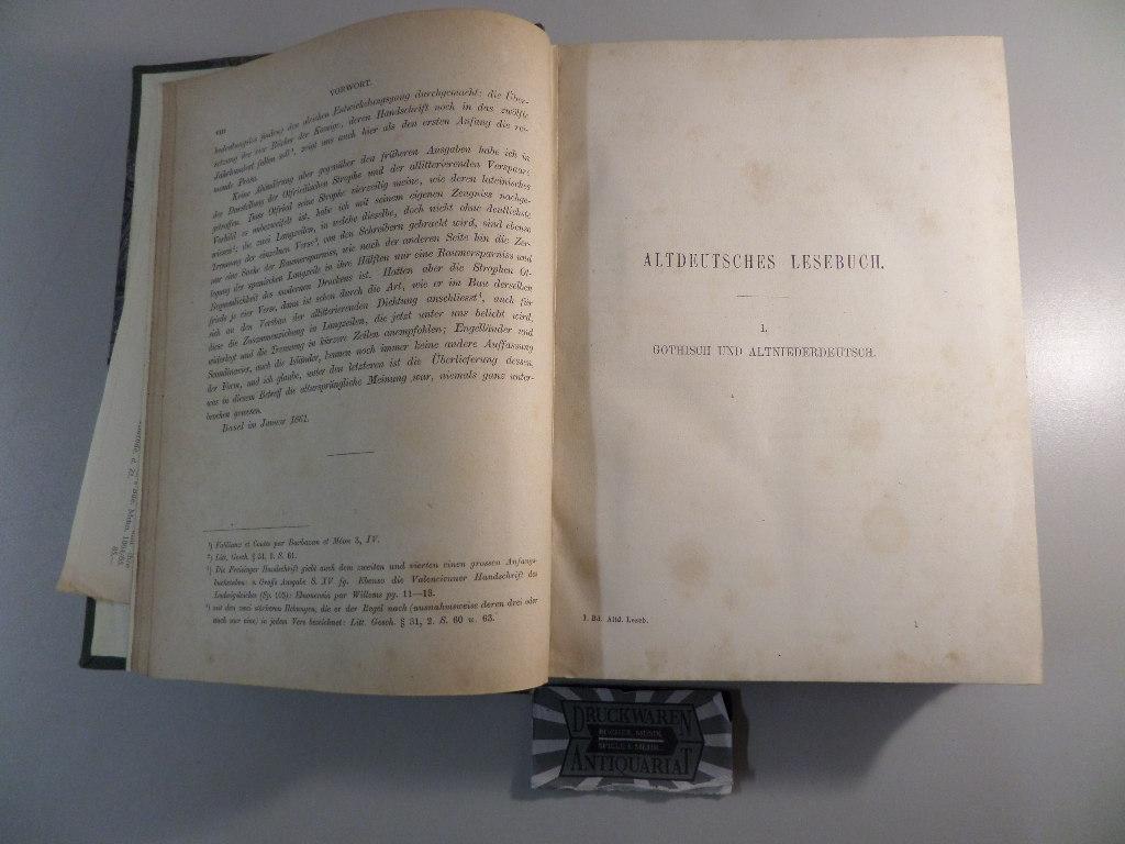 Altdeutsches Lesebuch. Deutsches Lesebuch - Erster Theil.: Wackernagel, Wilhelm: