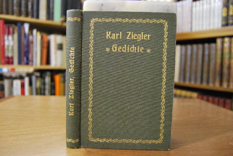 Gedichte.: Ziegler, Karl: