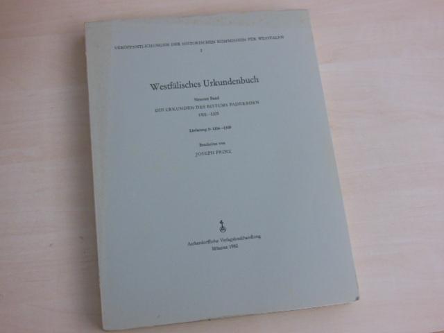 Die Urkunden des Bistums Paderborn. Lieferung 3: 1316-1325. - Paderborn. - Prinz, Joseph (Bearb.)