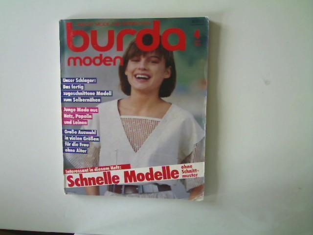 Burda Moden - Ausgabe 4 April 1984,: Autorenkollektiv: