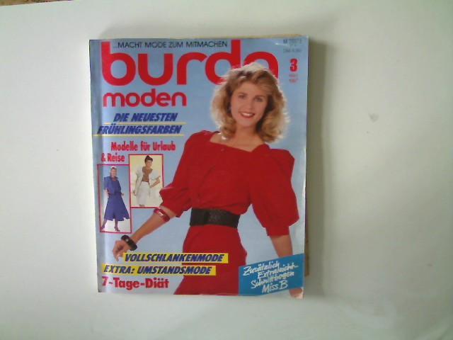 Burda Moden, Ausgabe 3, März 1987, Die: Autorenkollektiv: