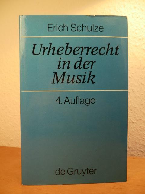 Urheberrecht in der Musik: Schulze, Erich: