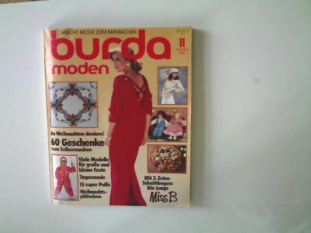 Burda Moden - Ausgabe 11 November 1984,: Autorenkollektiv: