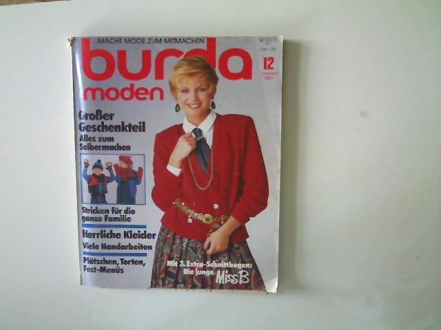 Burda Moden - Ausgabe 12 Dezember 1984,: Autorenkollektiv: