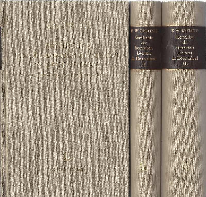 Geschichte der komischen Literatur in Deutschland seit: Ebeling, Friedrich Wilhelm.