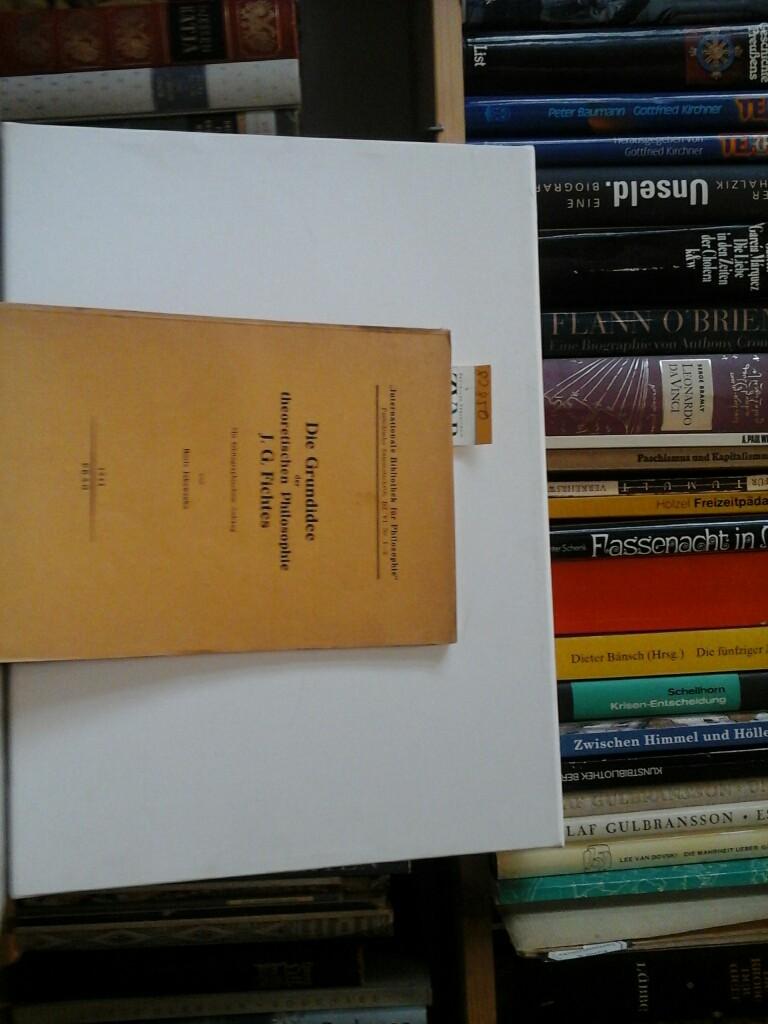 Die Grundidee der theoretischen Philosophie J.G.Fichtes. Mit: JAKOWENKO, BORIS: