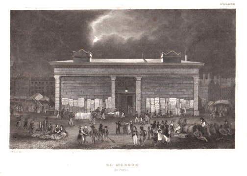 La Morgue in Paris. Stahlstich aus Meyer`s: Paris -