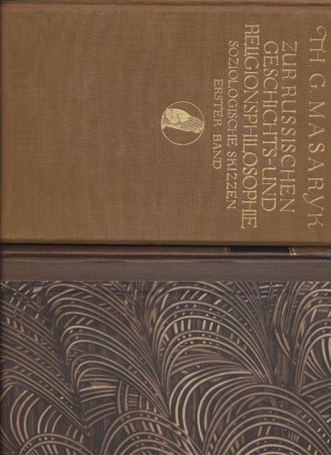 2 Bände) Zur russischen Geschichts- und Religionsphilosophie.: Masaryk, Thomás G.: