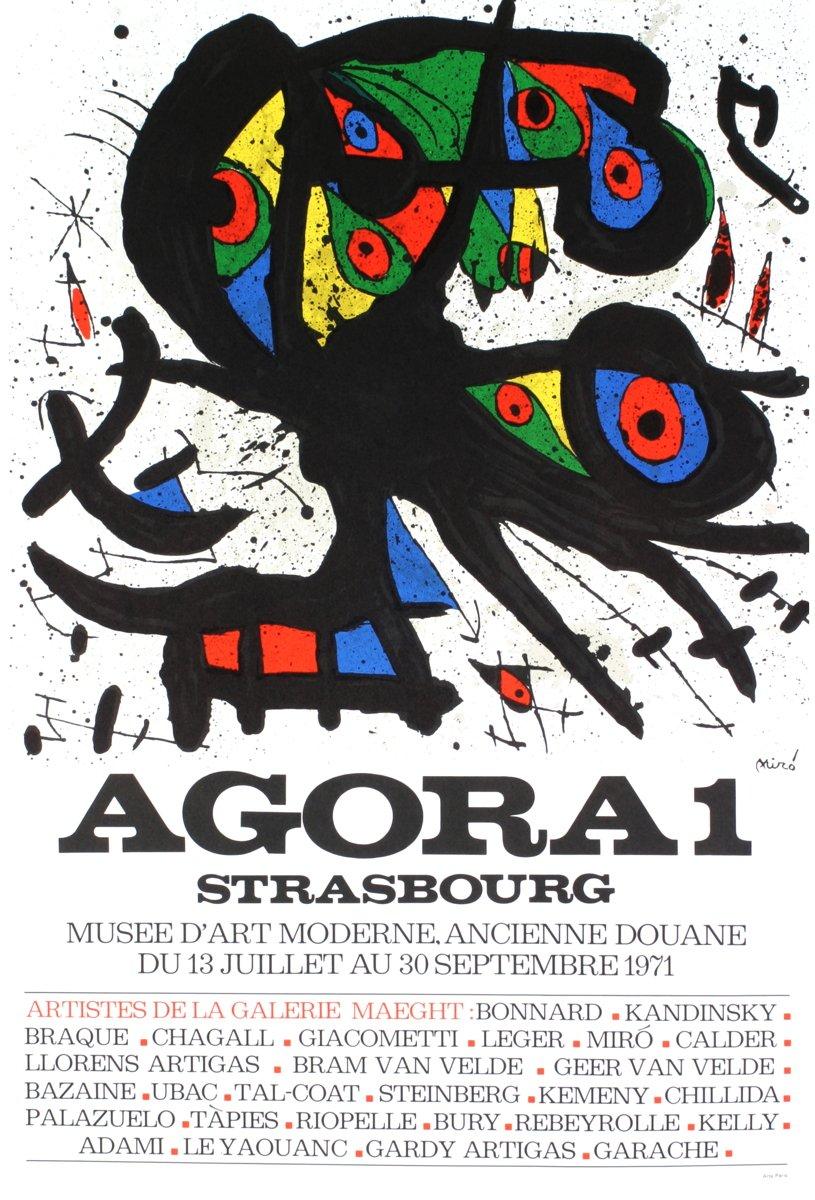 original lithograph poster 1973 exhibition Adria Barcelona Mint Joan Mir\u00f2