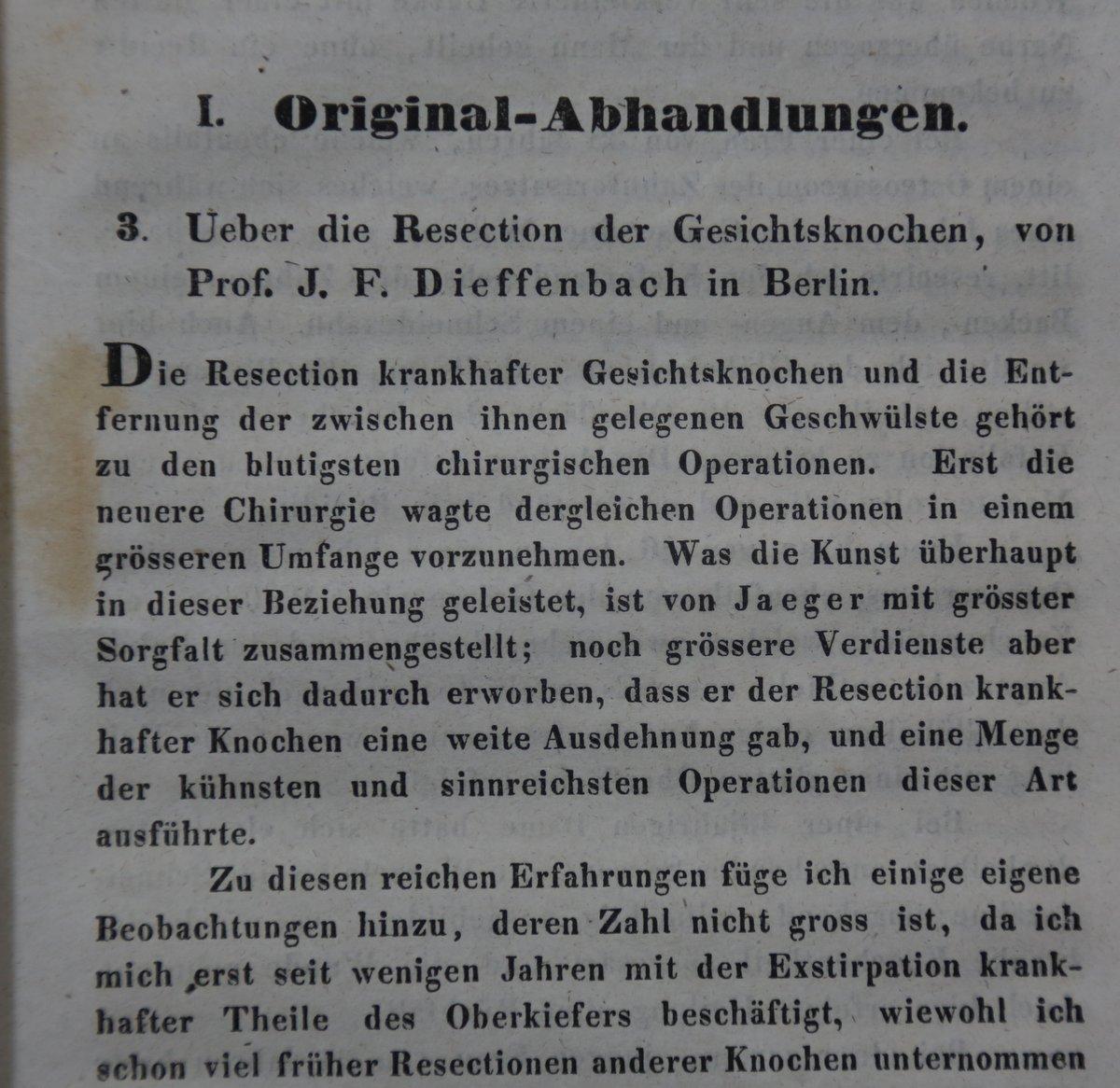 Über die Resection der Gesichtsknochen. S. 145-162: Dieffenbach, Johann Friedrich: