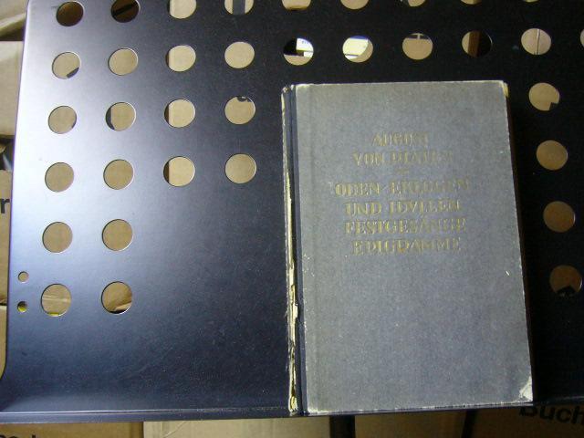 Oden Elogen und Idyllen Festgesänge Epigramme: Platen, August von