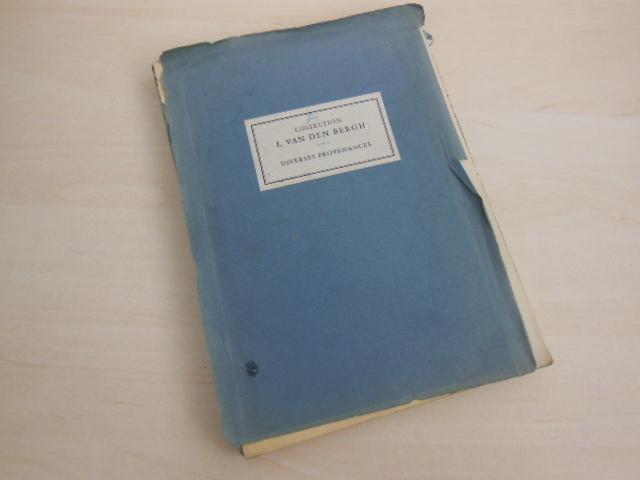 Collection L. van den Bergh - Diverses: Auktionskatalog. - Paul