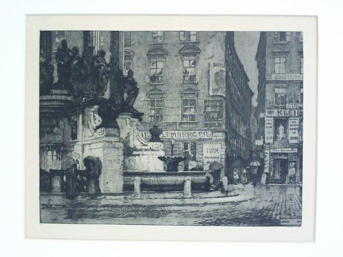 Hoher Markt in Wien, am Brunnen -: Kasimir, Luigi (1881-1962)