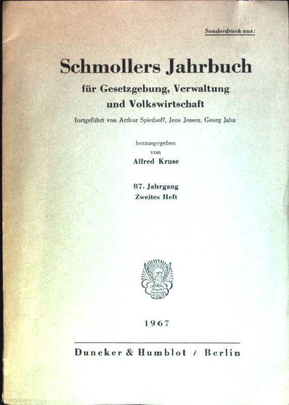 Schmollers Jahrbuch für Gesetzgebung, Verwaltung und Volkswirtschaft: Kruse, Alfred, Arthur