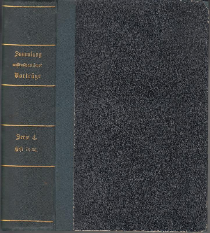 Sammlung gemeinverständlicher wissenschaftlicher Beiträge. IV. Serie, Heft: Virchow, Rudolf /