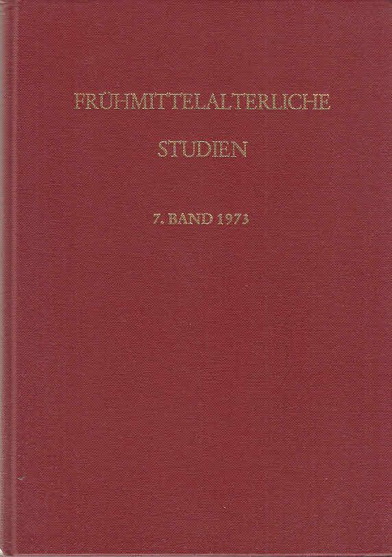 Frühmittelalterl Studien : Jahrbuch des Instituts für: Hauck, Karl, Hans