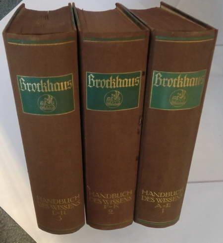 3 Bände: Brockhaus Handbuch des Wissens 1.: Brockhaus Hrsg.