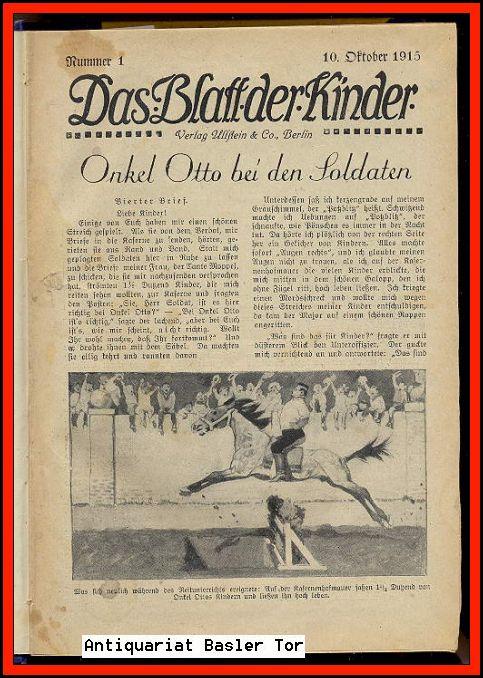Das Blatt der Kinder.: Kinderzeitschrift: