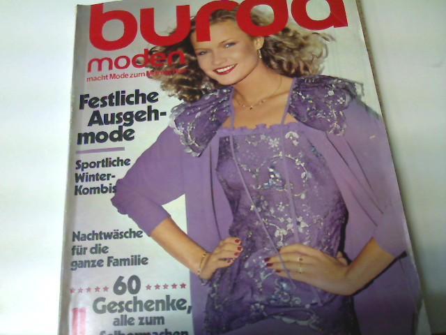 Burda Moden, Ausgabe Nr. 11/ 1980 -: Autorenkollektiv: