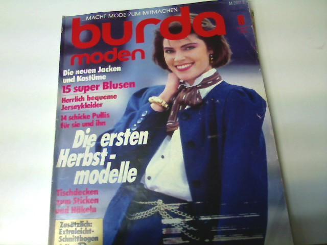 Burda Moden, Ausgabe Nr. 8/ 1986 -: Autorenkollektiv: