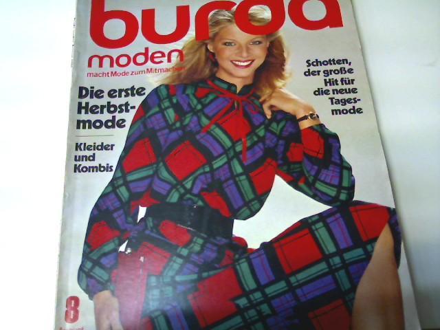 Burda Moden, Ausgabe Nr. 8/ 1980 -: Autorenkollektiv: