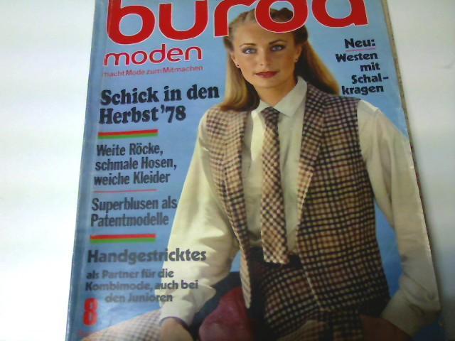 Burda Moden, Ausgabe Nr. 8/ 1978 -: Autorenkollektiv: