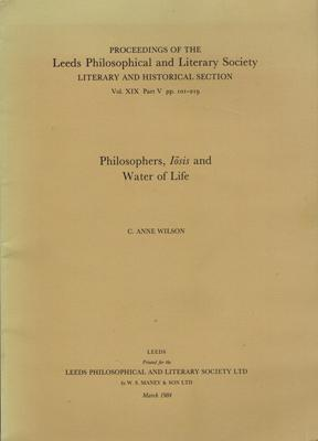 Philosophers, Iosis and Water of Life.: Wilson, C. Anne: