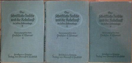 Der schriftliche Verkehr und die Redekunst in: Werner, L.,