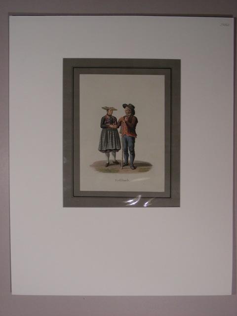 "Entlibuch(""). Bauernpaar in Tracht.: Lory, Gabriel II"