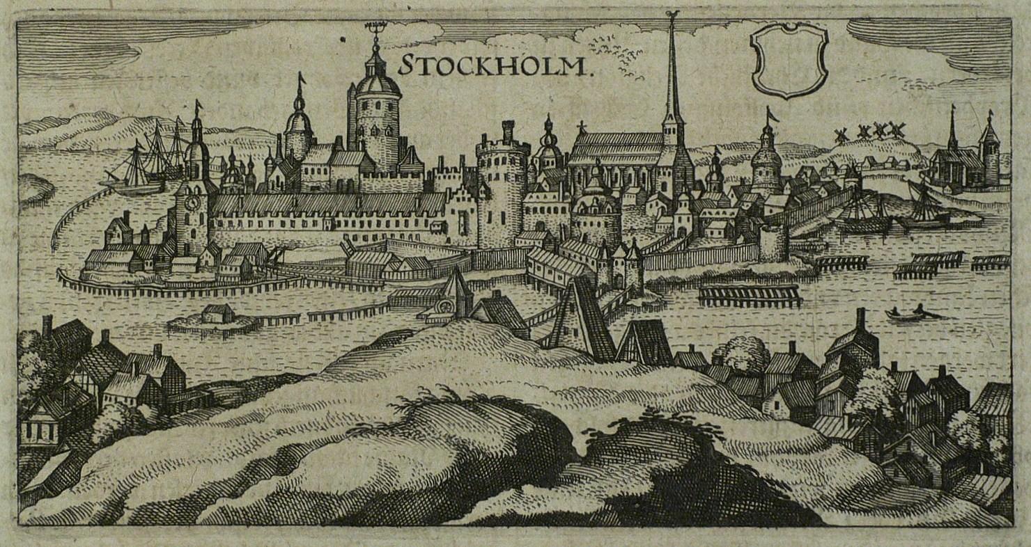 "Stockholm. - Gesamtansicht. - Hulsius. - ""Stockholm"".: Johann Ludwig Gottfried"