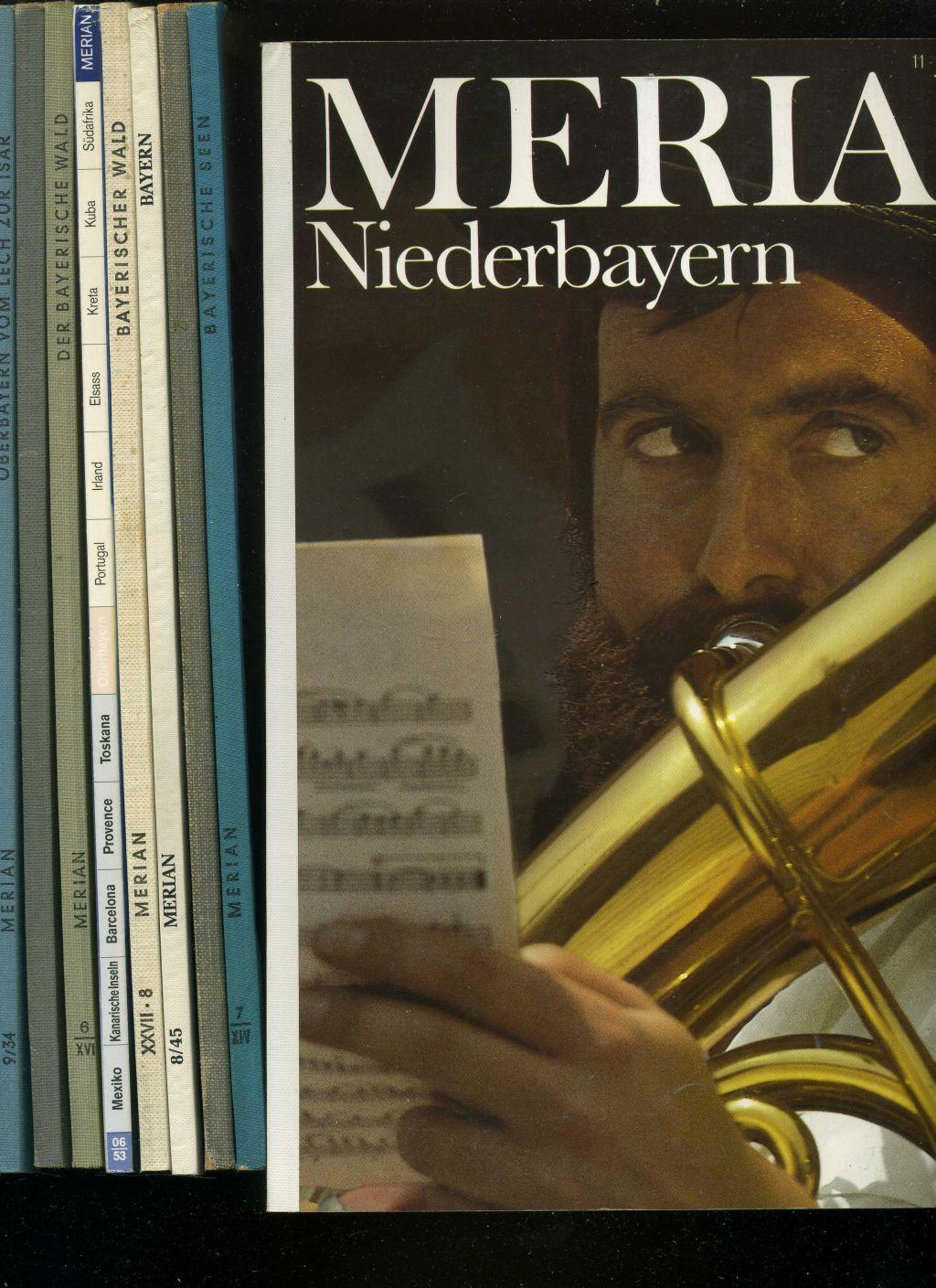 Merian. Konvolut von 6 Heften über Bayern: Keller, Will Hrsg.