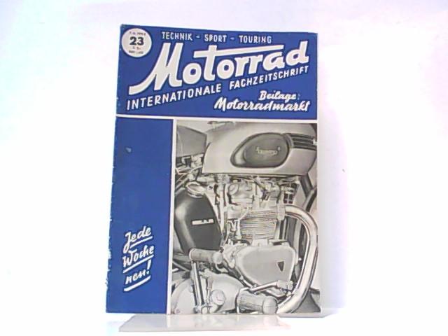 Motorrad. 5. Jahrgang, Heft 23. / 07.: Ibera Verlags Ges.