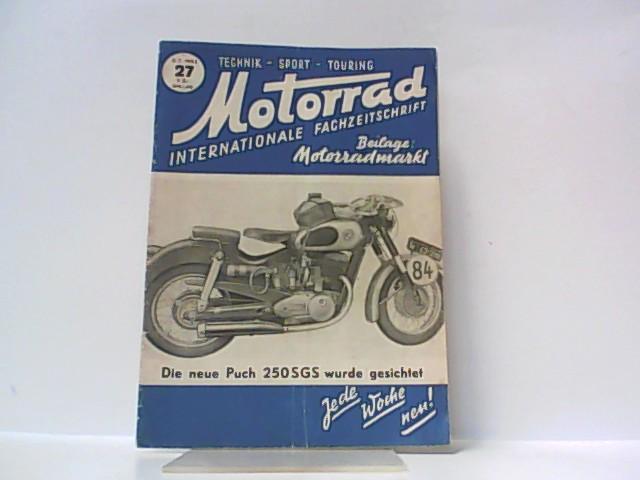 Motorrad. 5. Jahrgang, Heft 27. / 05.: Ibera Verlags Ges.