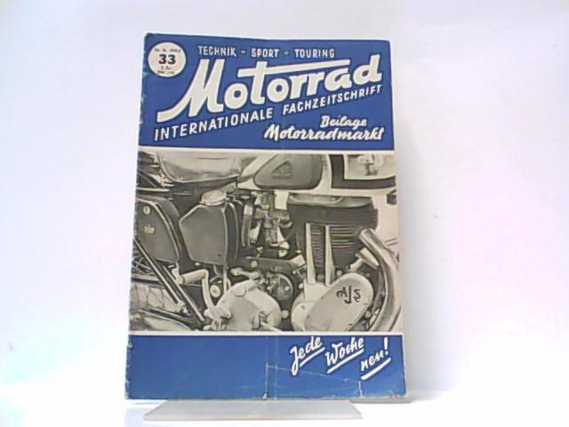 Motorrad. 5. Jahrgang, Heft 33. / 16.: Ibera Verlags Ges.