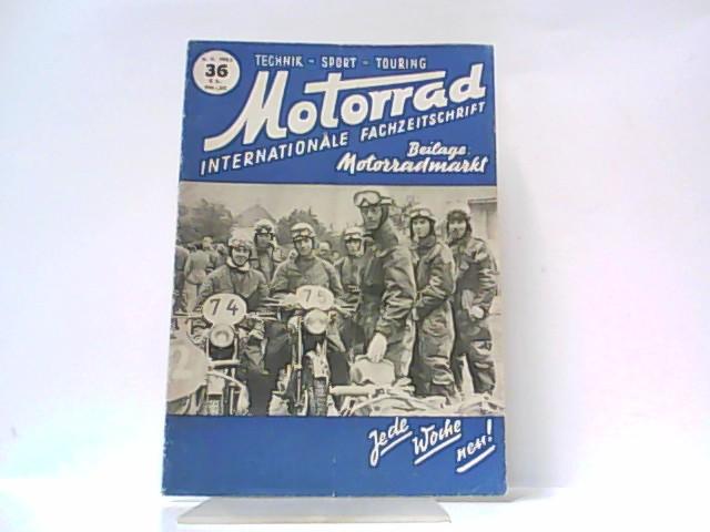 Motorrad. 5. Jahrgang, Heft 36. / 06.: Ibera Verlags Ges.