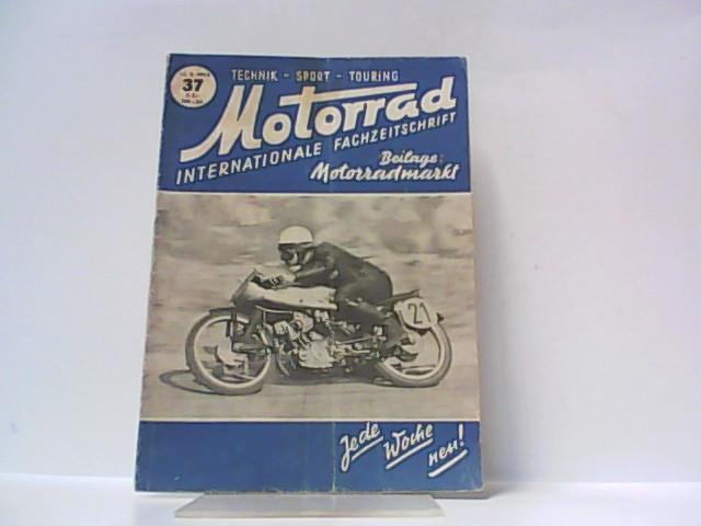 Motorrad. 5. Jahrgang, Heft 37. / 13.: Ibera Verlags Ges.