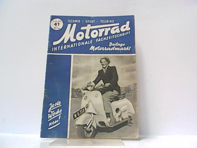 Motorrad. 5. Jahrgang, Heft 41. / 11.: Ibera Verlags Ges.