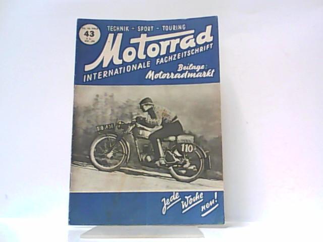 Motorrad. 5. Jahrgang, Heft 43. / 25.: Ibera Verlags Ges.