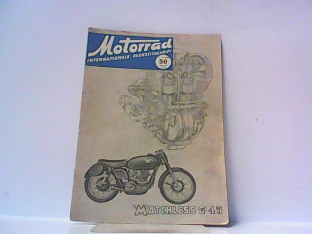 Motorrad. 5. Jahrgang, Heft 50/216, 13.12.1952. Internationale: Ibera Verlags Ges.